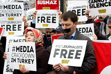 Turkey shuts down 130 media outlets