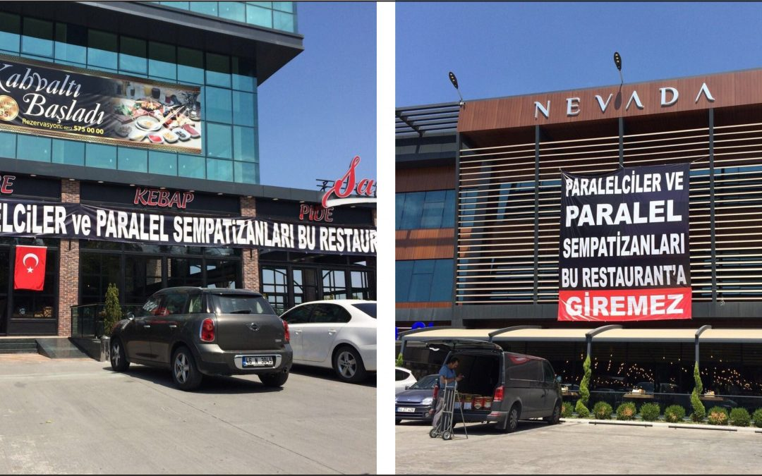 'Parallels not allowed' banner hung on Turkish restaurants