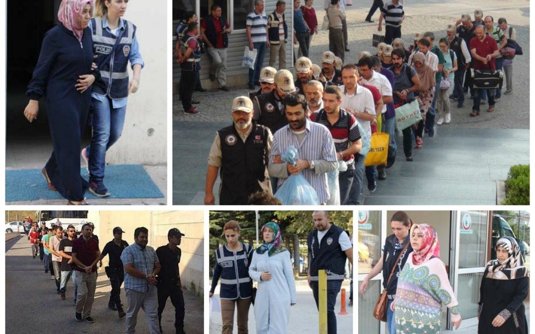 225 arrested, 255 others detained in coup probes on Monday