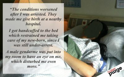 Woman gave birth while in detention, handcuffed to bed by police