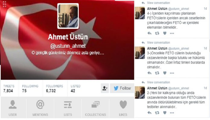 Erdoğan's Twitter army asks gov't to kill all Gülen sympathizers in jail