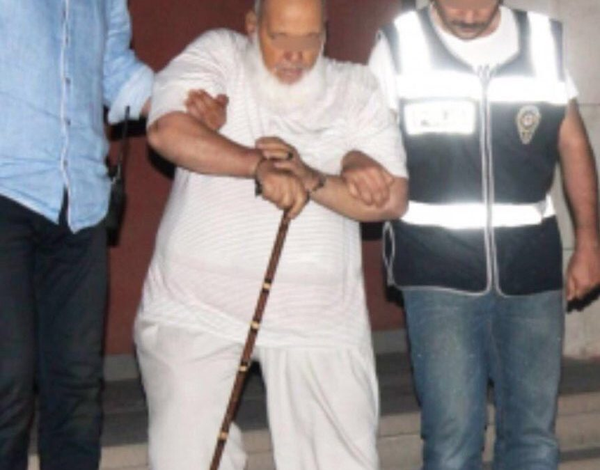 80-year-old man detained in handcuffs over Gülen links