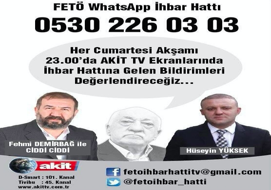 Pro-gov't TV channel sets up hotline to expose Gulenists