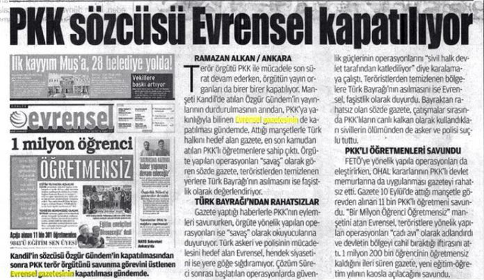 Pro-gov't daily says leftist newspaper to be closed down