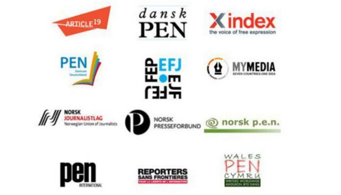 Int'l organizations condemn crackdown on Turkish media
