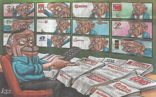 Reporters Without Borders: Gov't controls 7 out of 10 most-watched TV channels in Turkey