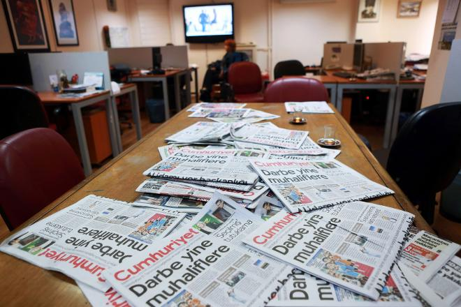 Detained Cumhuriyet journalists barred from seeing lawyers for 5 days