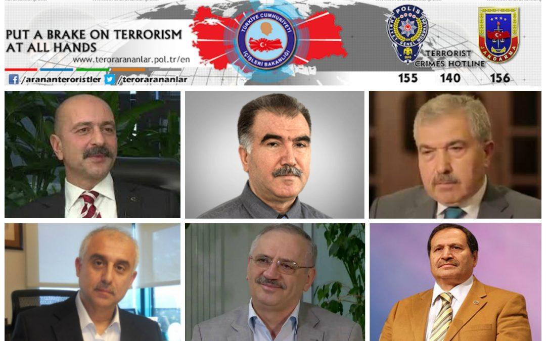 Turkey includes writers, businessmen, academics in most-wanted terrorists list