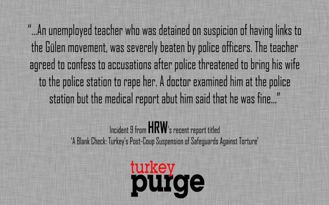 Human Rights Watch: Detained teacher agrees on forced testimony after police threatened to rape wife