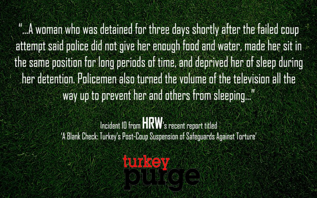 Human Rights Watch: Woman deprived of food, water during detention