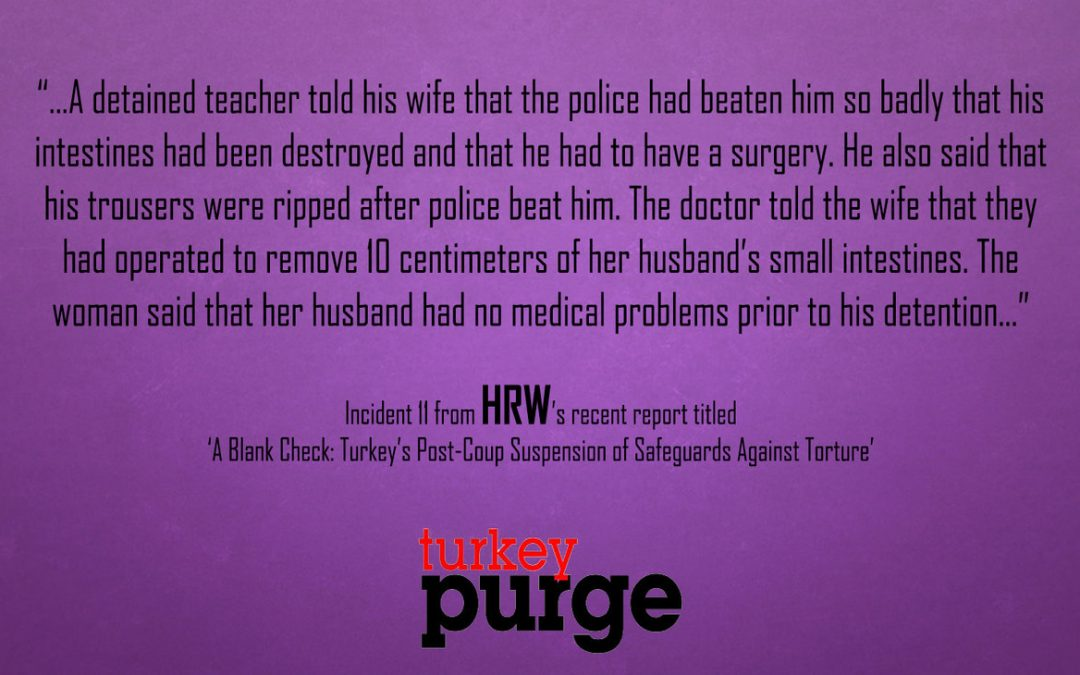 Human Rights Watch: Detained teacher hospitalised after being beaten during interrogation