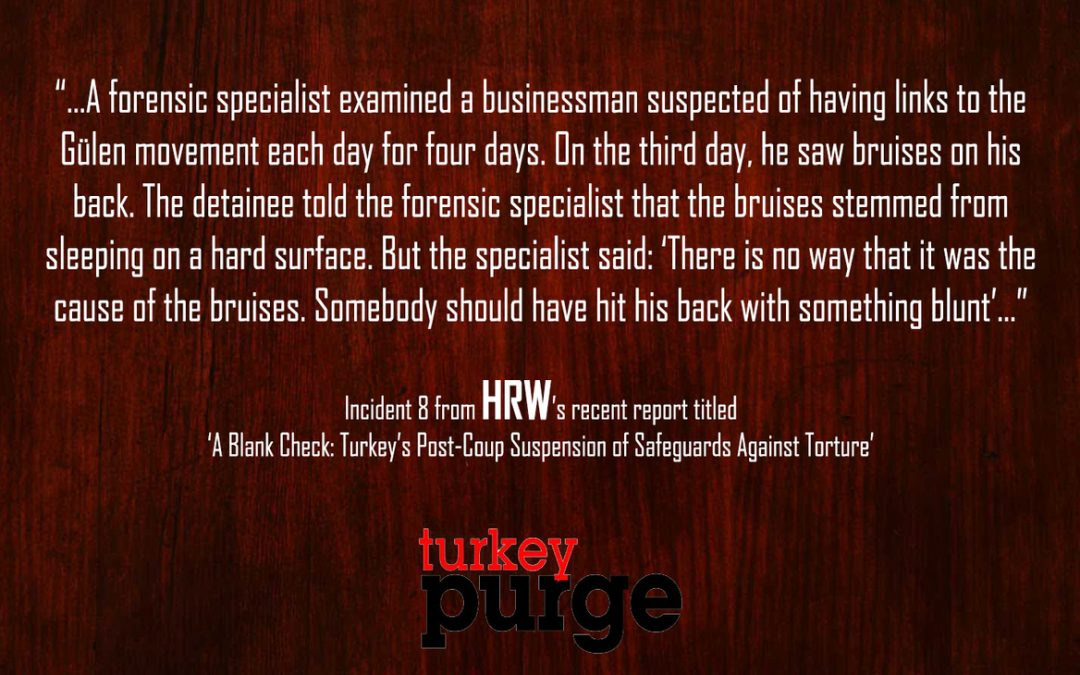 Human Rights Watch: Detainees not complaining about torture as they fear further persecution