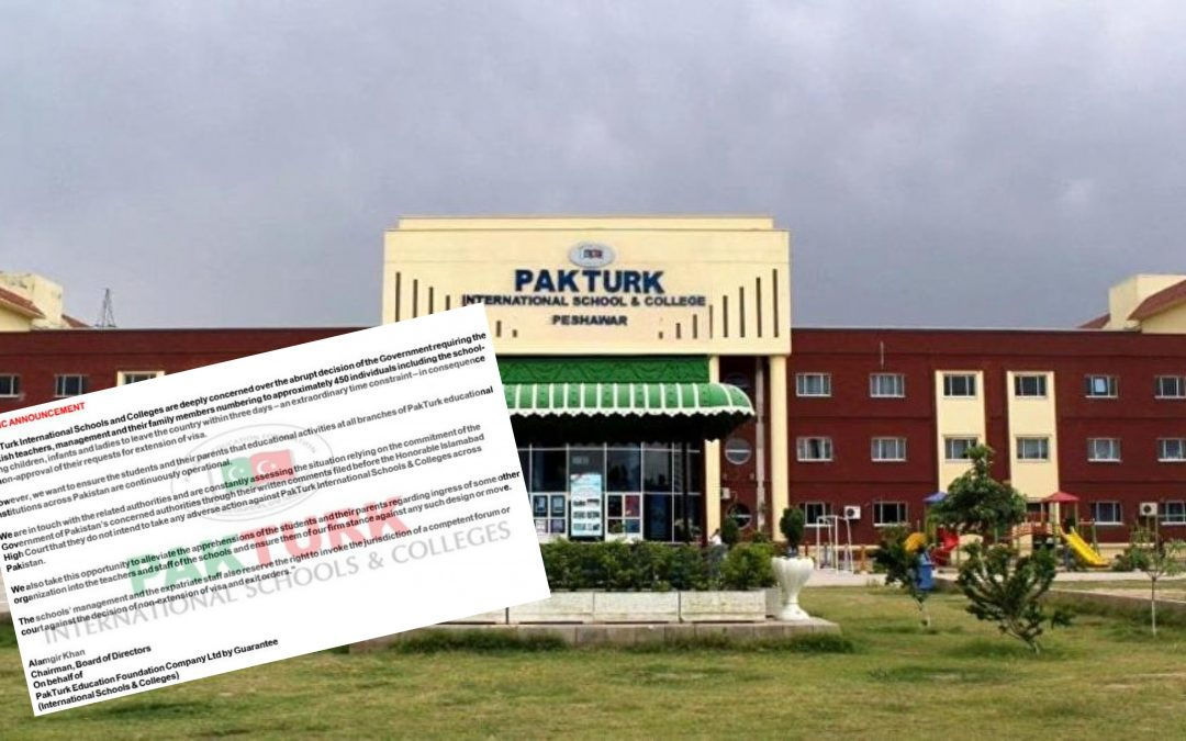 Pakistan orders teachers at Gülen-linked schools to leave country by Nov. 20