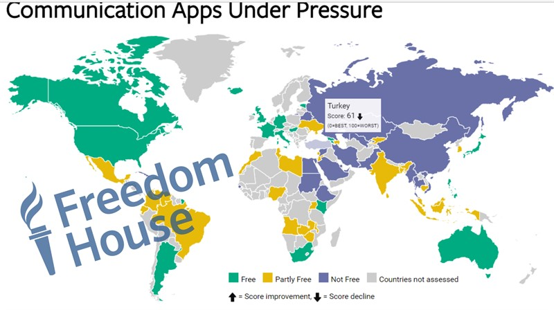 Freedom House report: Turkey among 'Not Free' countries in Internet freedom