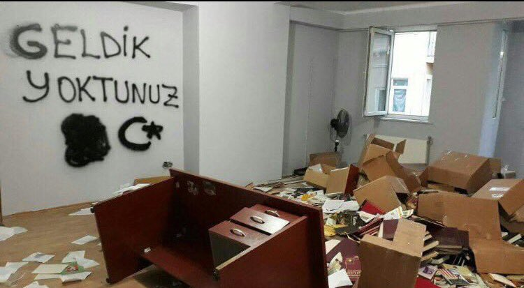 Police storm HDP offices, leave message on walls: 'We will be back'