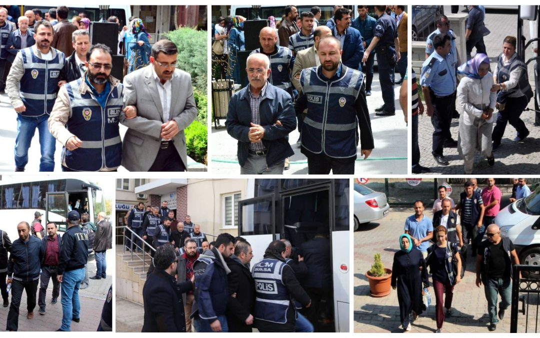 TURKEY PURGE IN PAST 96 HOURS: 168 arrested, 307 others detained over coup charges