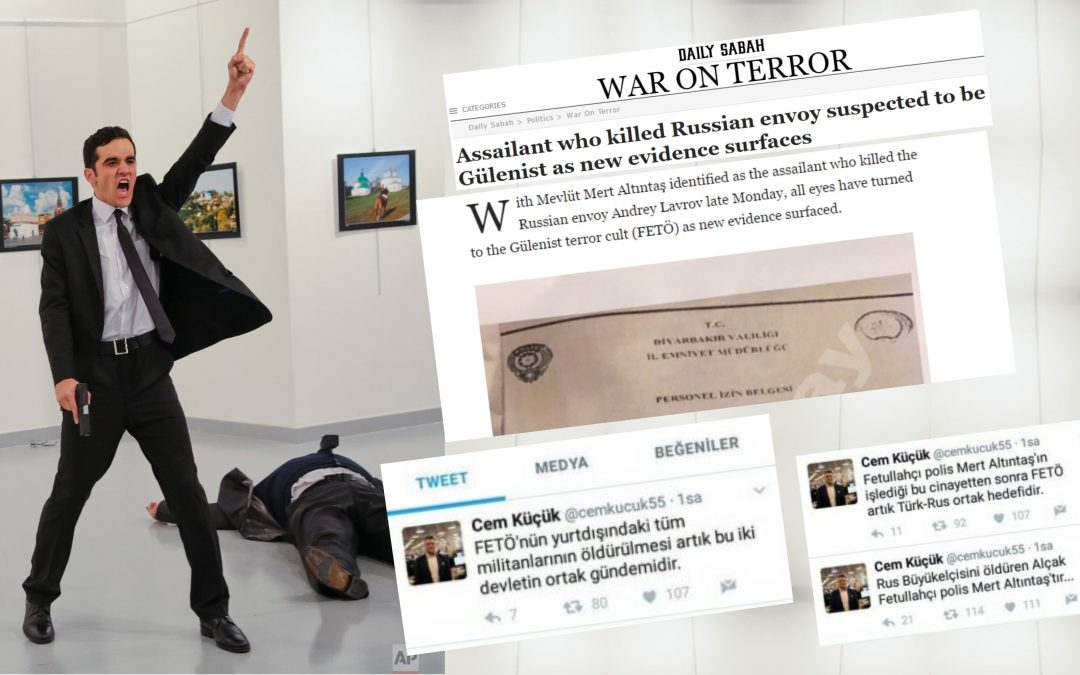 Turkey's pro-gov't media claims Gülen movement behind murder of Russian ambassador