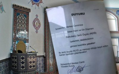 Turkey-funded mosque in Germany bans entry for Gulenists