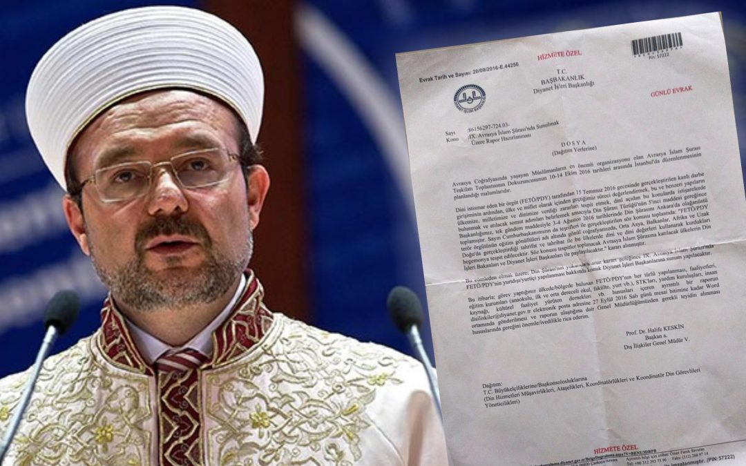 Leaked document confirms Turkey's Religious Directorate profiled expats via imams abroad