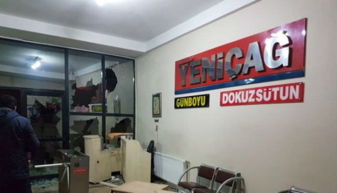 Nationalist daily Yeniçağ's headquarters attacked in İstanbul