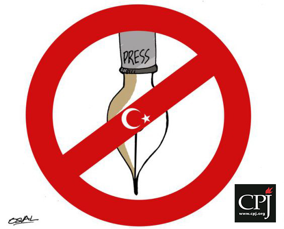 Turkey, the biggest jailer of journalists in 2016: CPJ
