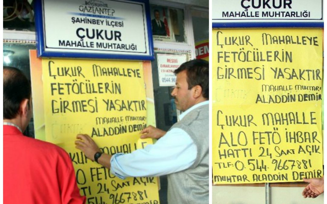 Turkey's lowest-ranking local administrators to collect intelligence on people