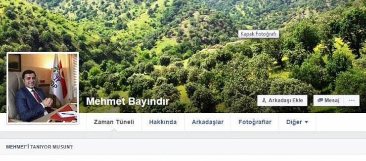 Neighborhood head dismissed for using pro-Kurdish leader as Facebook profile picture
