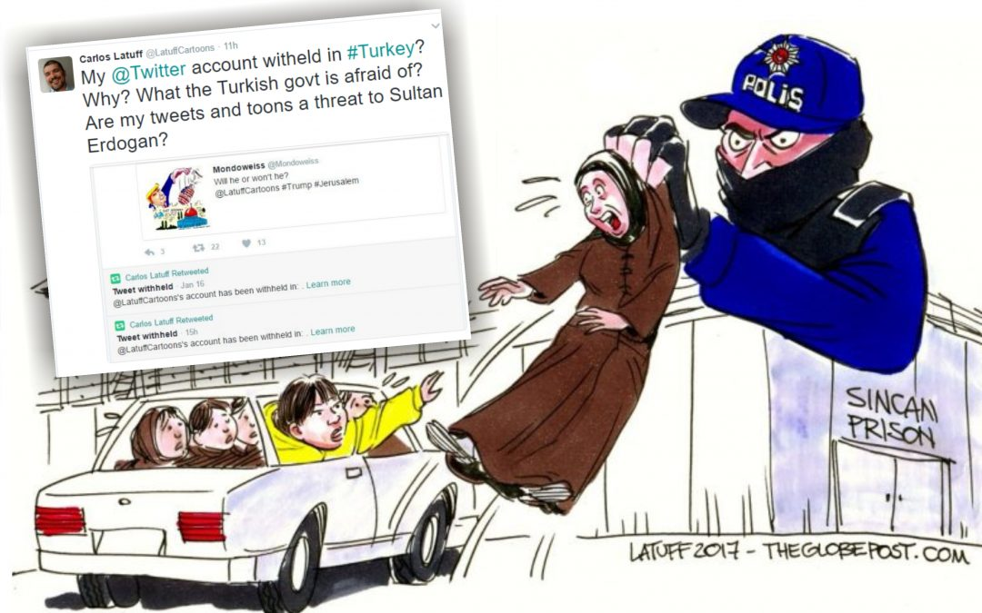 Cartoonist's tweets withheld in Turkey after drawing abandoned children