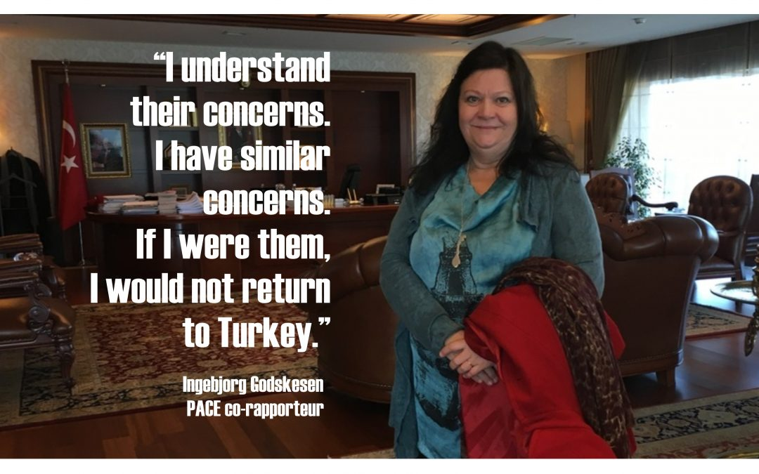 PACE's Godskesen: I wouldn't return home if I were a Turk seeking asylum
