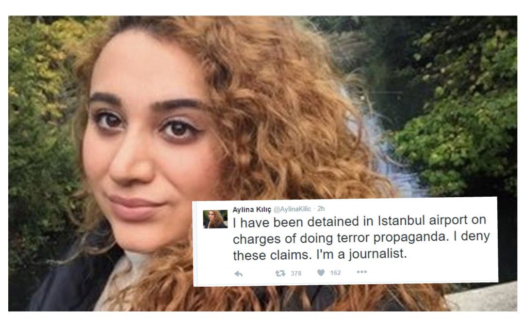 Journalist says detained at İstanbul airport on terrorism charge