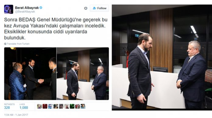 Erdoğan's son-in-law tweets photos of 'bureaucratic reprimand'