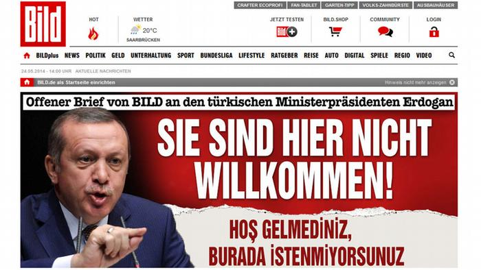Turkey blocks access to German daily BİLD's website