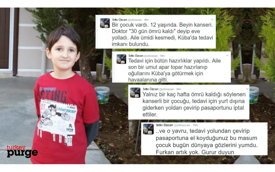 12-year-old denied departure from Turkey for treatment in Cuba dies of cancer