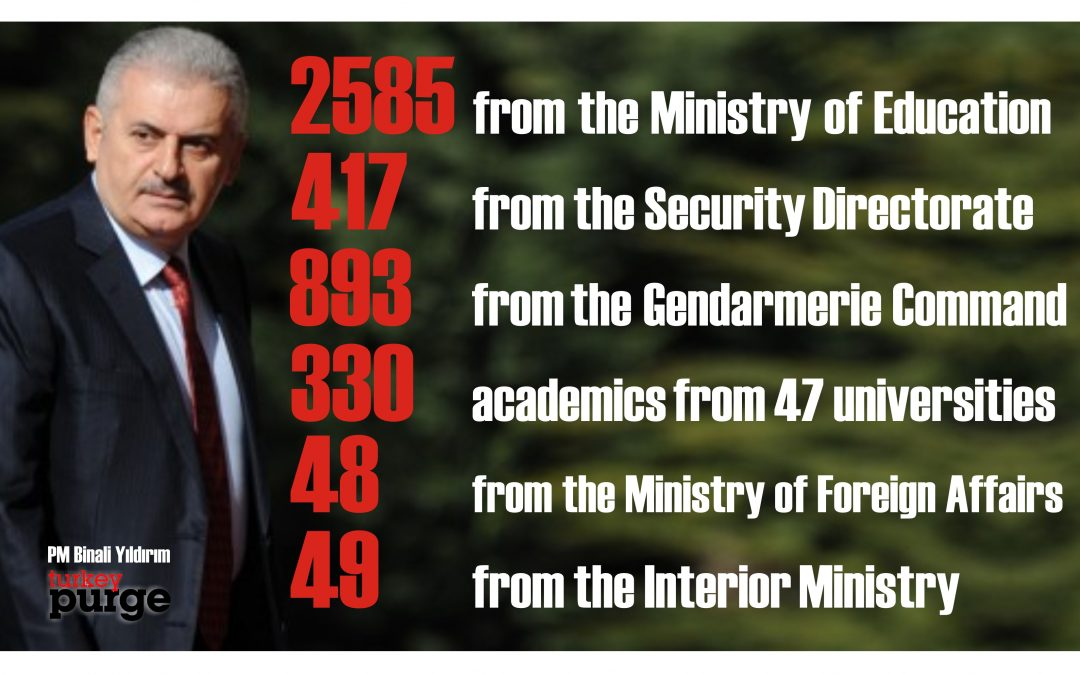 Turkey's purge in full gear with 4,464 more public servants dismissed in new gov't decrees