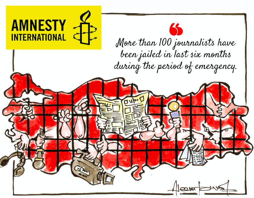 Amnesty Int'l: Turkey journalists languishing behind bars for months