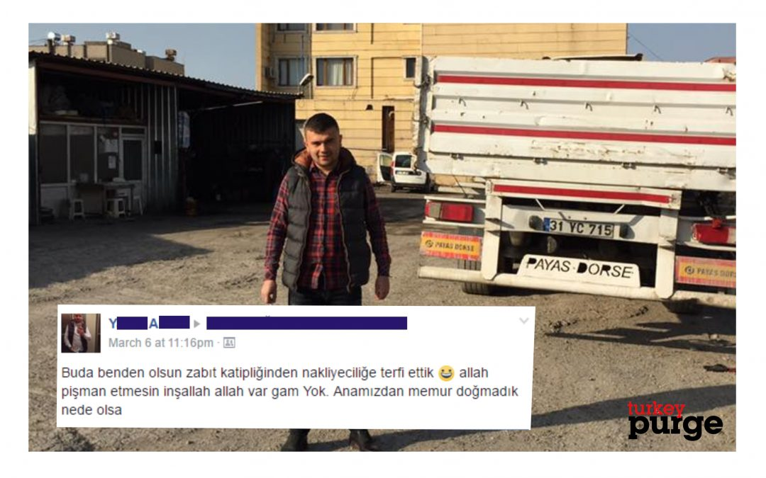 Dismissed under post-coup purge, court clerk works at transport store to earn living