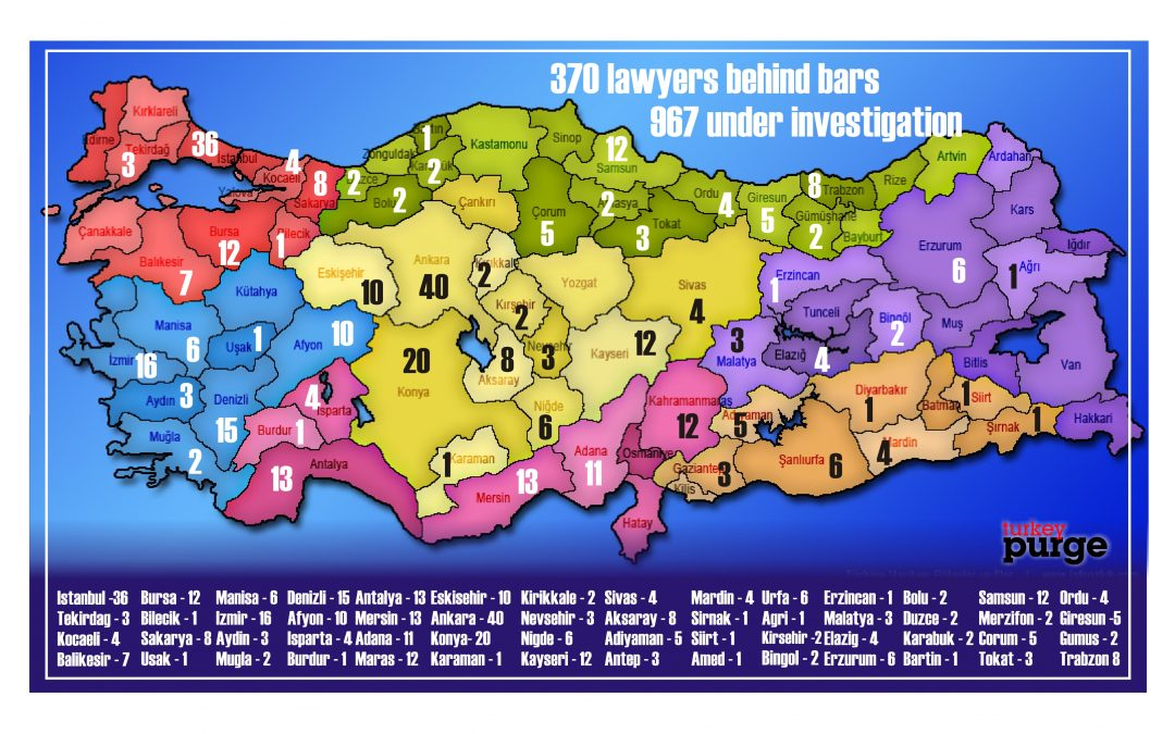 370 lawyers jailed, 967others investigated since July 15