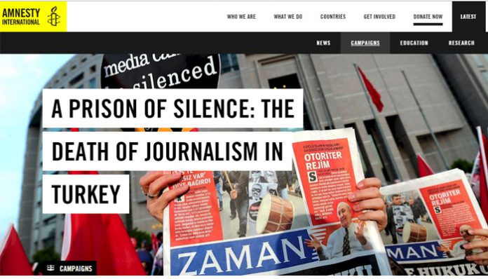 Amnesty International launches campaign to show solidarity with Turkey's jailed journalists