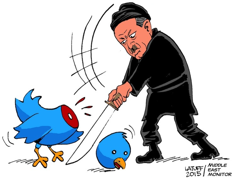Dozens of Twitter accounts blocked in Turkey 'for insulting Erdoğan'