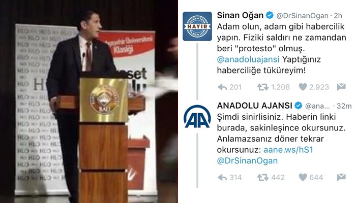 State-run Anadolu news agency mocks opposition deputy on social media