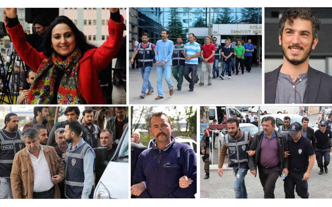 TURKEY PURGE IN PAST 15 DAYS: 1358 detained, 381 jailed over coup charges