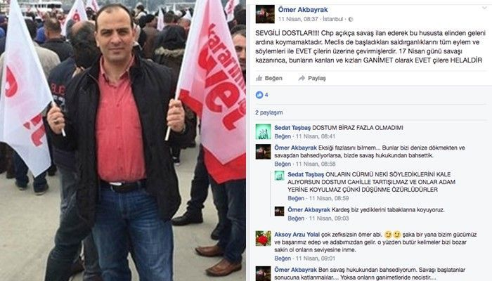Istanbul man says naysayers' wives, daughters permitted as sex slaves after 'Yes' result in referendum