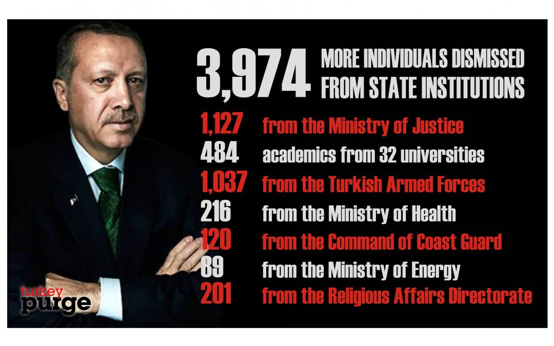 [DETAILS] Turkish government dismisses 3,974 public servants