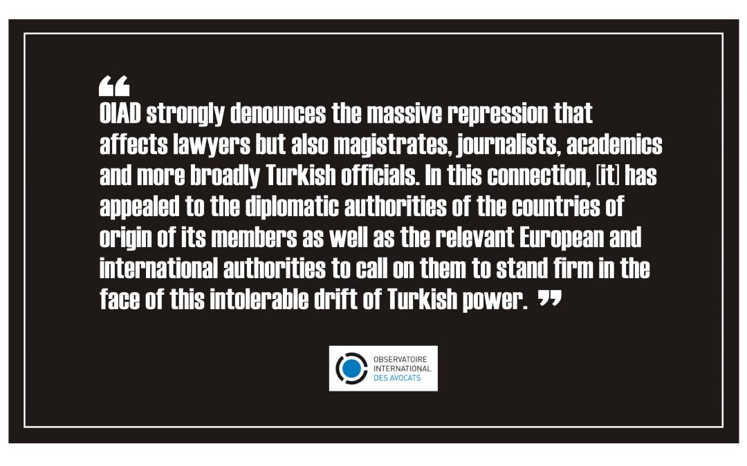International bar organization condemns gov't repression of lawyers in Turkey