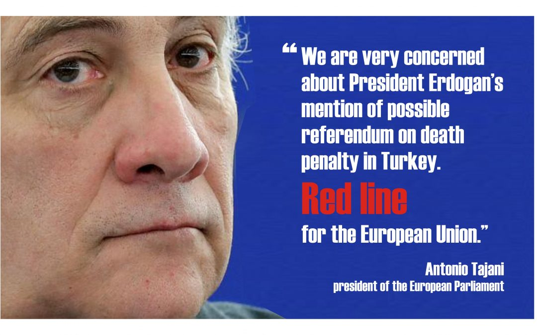 EP President expresses concern about possible vote on reinstatement of death penalty in Turkey