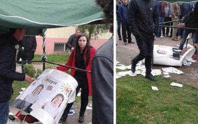 Pro-gov't mob attacks CHP campaign stand in Sakarya