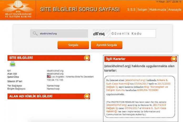 Access to newly-established advocacy group's website blocked in Turkey