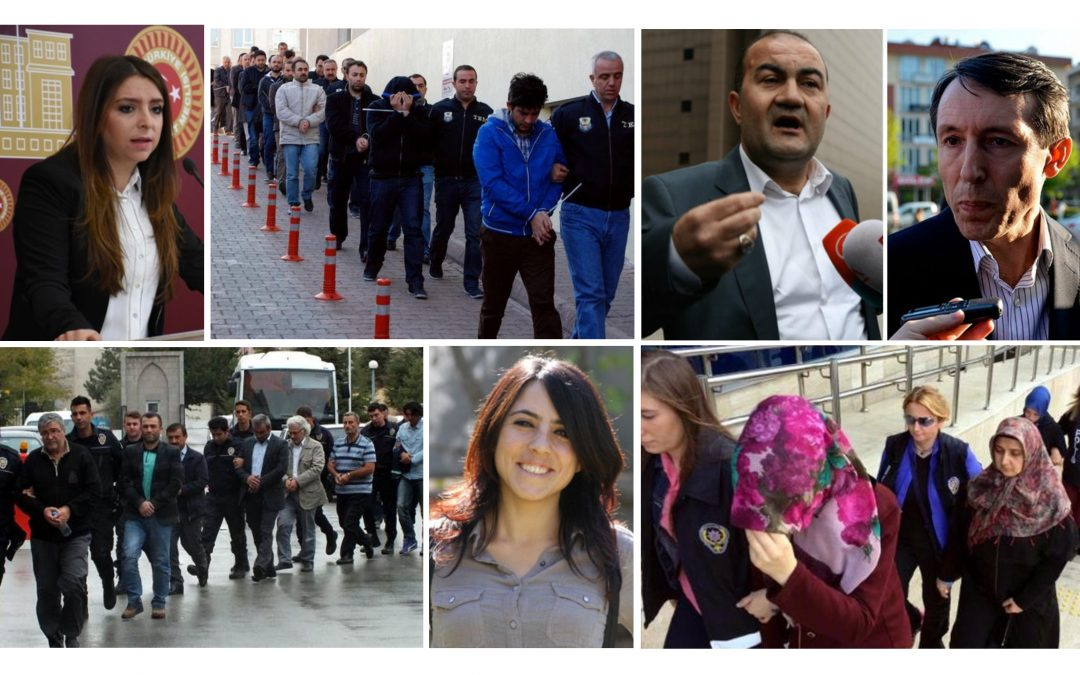 TURKEY PURGE IN PAST 30 DAYS: 2125 detained, 580 jailed, 9103 suspended, 3974 dismissed over coup charges