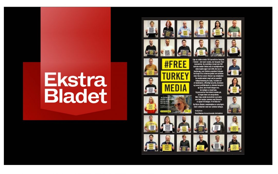 Danish newspaper Ekstra Bladet joins campaign for release of Turkey's jailed journalists