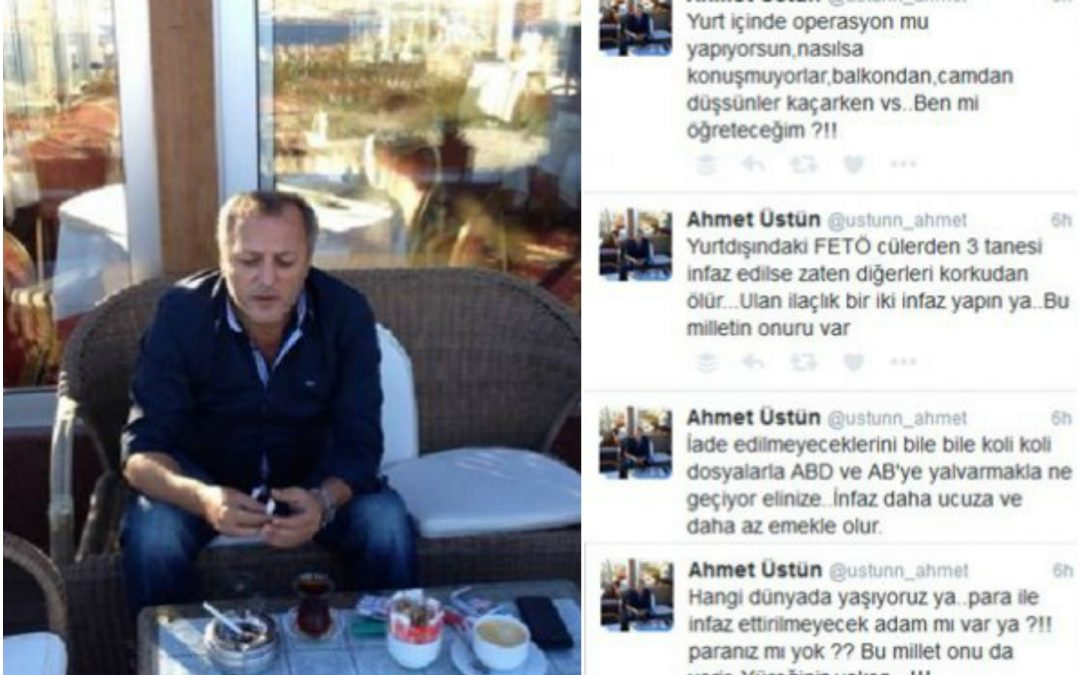 Pro-Erdoğan troll calls on gov't to assassinate Gülenists